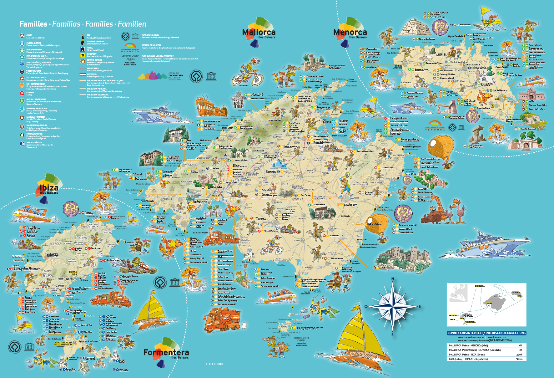 map of holiday with children villas petra mallorca